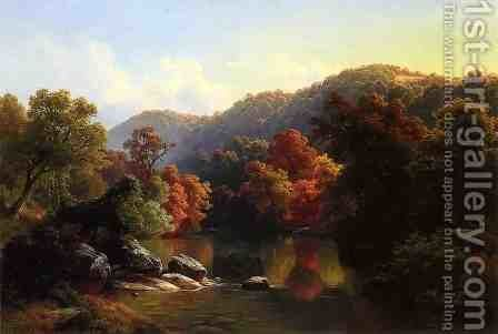 Autumn on the River by Gottlieb Daniel Paul Weber - Reproduction Oil Painting