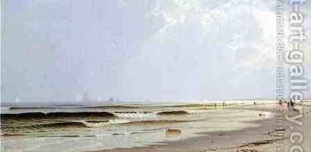 Newport Beach by Alfred Thompson Bricher - Reproduction Oil Painting