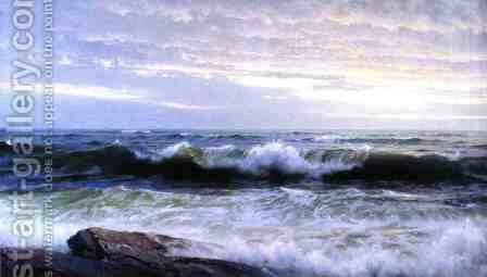 After a Stormy Day by William Trost Richards - Reproduction Oil Painting