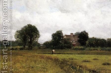 Glastonbury Meadows by Dwight William Tryon - Reproduction Oil Painting
