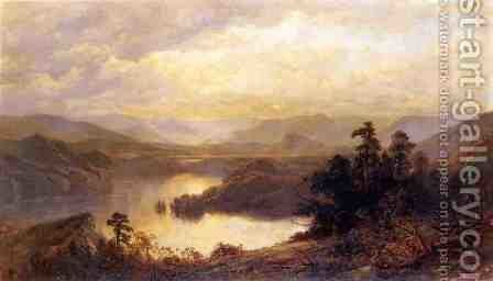 Lake Placid and the Adirondack Mountains from Whiteface by James David Smillie - Reproduction Oil Painting