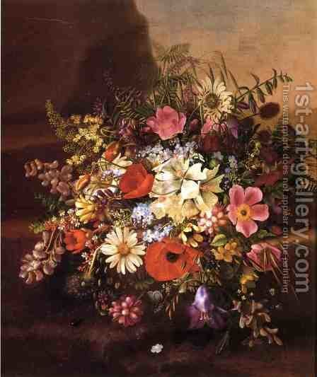 Floral Still Life I by Adelheid Dietrich - Reproduction Oil Painting