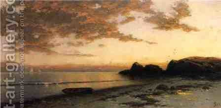 Sundown, Seconnett by Alfred Thompson Bricher - Reproduction Oil Painting