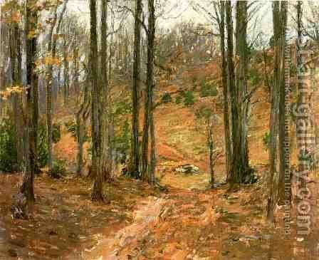 Virginia Woods by Theodore Robinson - Reproduction Oil Painting