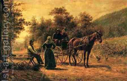 Return to the Farm by Edward Lamson Henry - Reproduction Oil Painting