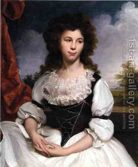 Portrait of a Lady by James Earle - Reproduction Oil Painting
