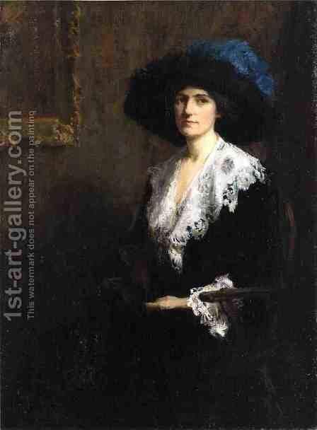 Portrait of Mrs. Jane Byron Johnston by Mary Bradish Titcomb - Reproduction Oil Painting