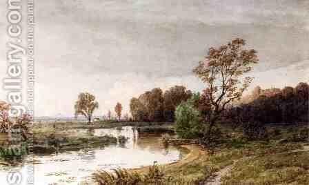 Hackensack Meadows in the Autumn by Jasper Francis Cropsey - Reproduction Oil Painting