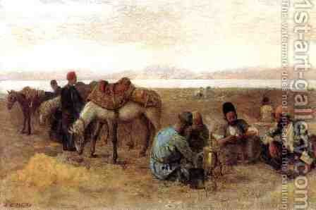 Early Morning by Lake Urumiyah, Persia by Edwin Lord Weeks - Reproduction Oil Painting