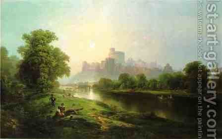 Windsor Castle by Edward Moran - Reproduction Oil Painting