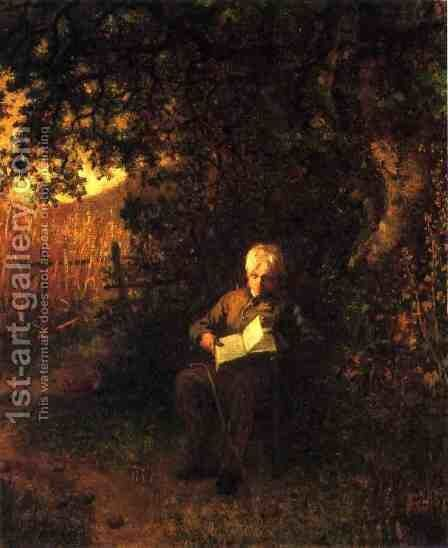 A Quiet Hour by Eastman Johnson - Reproduction Oil Painting