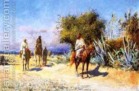 Arabs on the Move by Edwin Lord Weeks - Reproduction Oil Painting