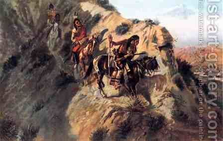 Scouting the Enemy by Charles Marion Russell - Reproduction Oil Painting