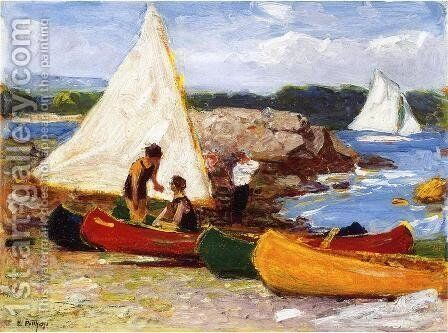 Canoeing by Edward Henry Potthast - Reproduction Oil Painting