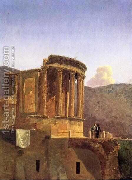 The Temple of Vesta at Tivoli by Antoine-Felix Boisselier - Reproduction Oil Painting