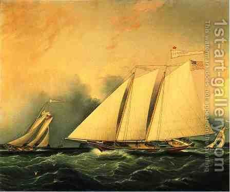 The Narrows by James E. Buttersworth - Reproduction Oil Painting