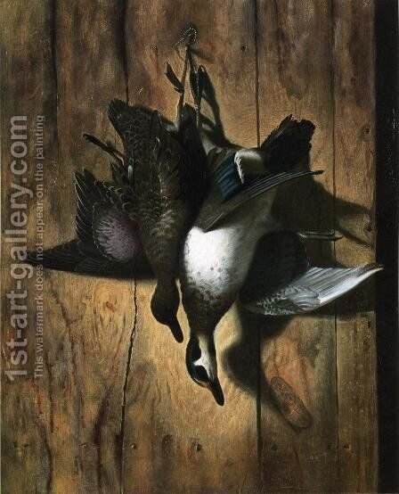 Hanging Water Fowl by Edward Edmondson - Reproduction Oil Painting
