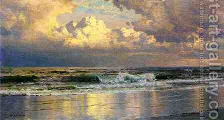 Beach at Atlantic City by William Trost Richards - Reproduction Oil Painting