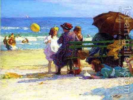 A Family Outing by Edward Henry Potthast - Reproduction Oil Painting