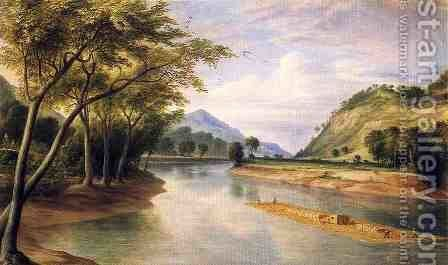 The Ohio River Near Marietta by Henry Cheever(s) Pratt - Reproduction Oil Painting