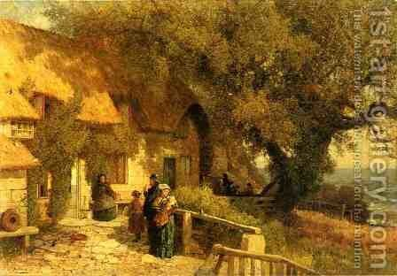 An Inn by the Ocean by Albert (Fitch) Bellows - Reproduction Oil Painting