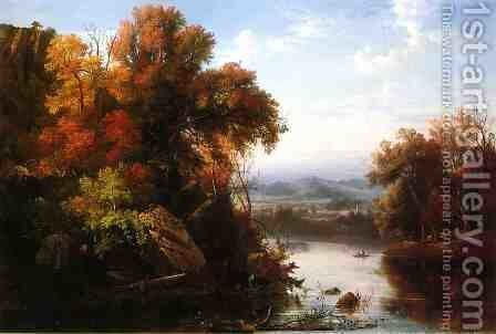 Indian Summer by Marie-Regis-Francois Gignoux - Reproduction Oil Painting