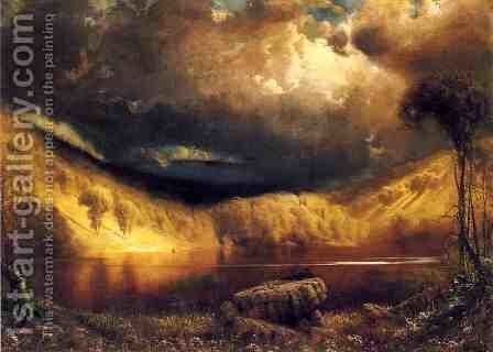 Stormy Skies Above Echo Lake, White Mountains by James Fairman - Reproduction Oil Painting