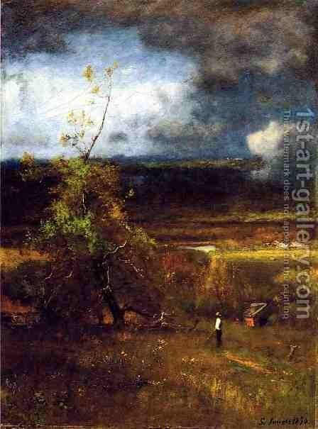 Gethering Clouds by George Inness - Reproduction Oil Painting