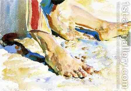 Feet of an Arab, Tiberias by Sargent - Reproduction Oil Painting