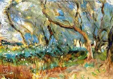 Landscape 1909 Corfu by Sargent - Reproduction Oil Painting