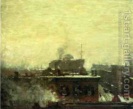 The El by Henry Ward Ranger - Reproduction Oil Painting