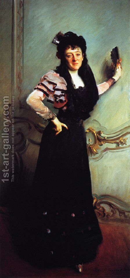 Mrs. Walter Bacon (Virginia Purdy Barker) by Sargent - Reproduction Oil Painting