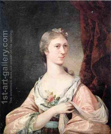 Portrait of Abigail Willing by Matthew Pratt - Reproduction Oil Painting