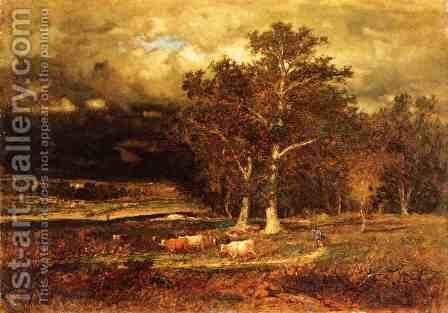 Approaching Storm by George Inness - Reproduction Oil Painting