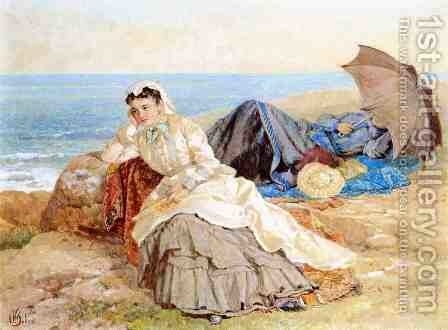 Seaside Reflections by Albert (Fitch) Bellows - Reproduction Oil Painting