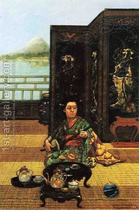 Tea Ceremony by Henry Alexander - Reproduction Oil Painting