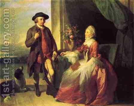 Mr. Robert Grafton and Mrs. Mary Partridge Wells Grafton by Benjamin West - Reproduction Oil Painting
