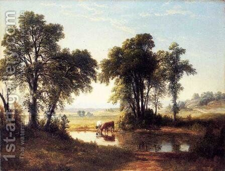 Cows in a New Hampshire Landscape by Asher Brown Durand - Reproduction Oil Painting
