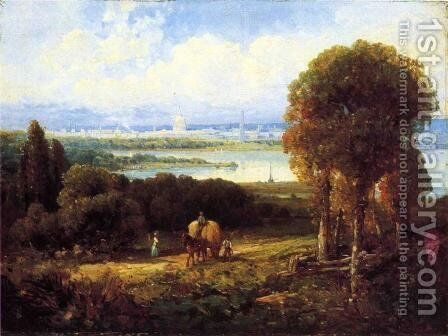 View of Washington, DC by Andrew Melrose - Reproduction Oil Painting