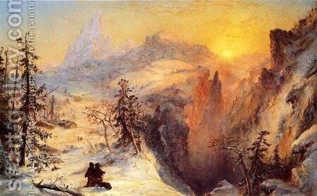 Winter in Switzerland 2 by Jasper Francis Cropsey - Reproduction Oil Painting