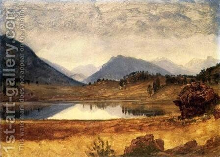 Wind River Country II by Albert Bierstadt - Reproduction Oil Painting