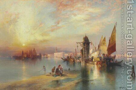 Venice IV by Thomas Moran - Reproduction Oil Painting