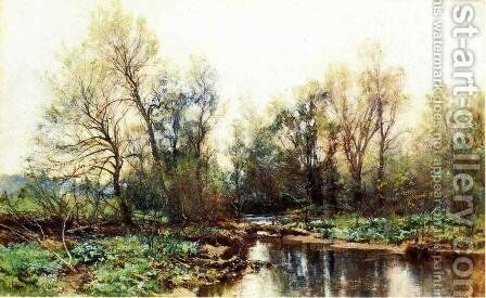 A Clear Stream by Hugh Bolton Jones - Reproduction Oil Painting
