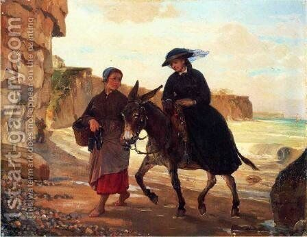 The Tourist and the Fisherwoman by Henry Bacon - Reproduction Oil Painting