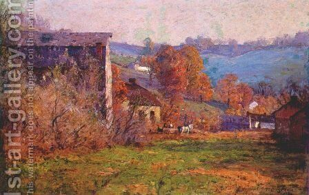 The Old Mills by Theodore Clement Steele - Reproduction Oil Painting