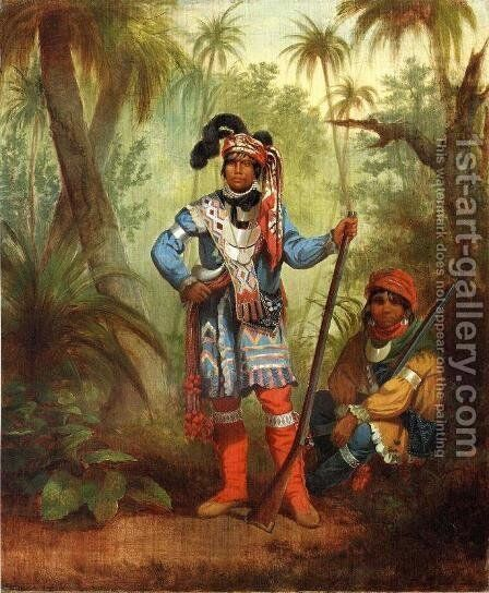Billy Bowlegs by Carl (Charles Ferdinand) Wimar - Reproduction Oil Painting