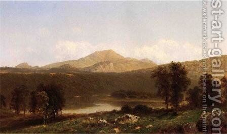 View of Mt. Lafayette, New Hampshire by David Johnson - Reproduction Oil Painting