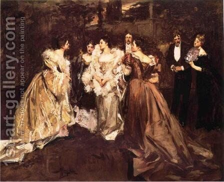 At the Ball by Albert B. Wenzell - Reproduction Oil Painting