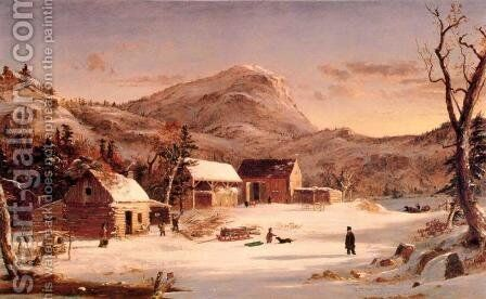 Winter in the Rockies by Jasper Francis Cropsey - Reproduction Oil Painting