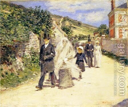 The Wedding March by Theodore Robinson - Reproduction Oil Painting